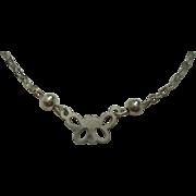 "Sterling Butterfly 9"" Bracelet"