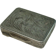 Italian 800 Acanthus Snuff Box or Pill Box