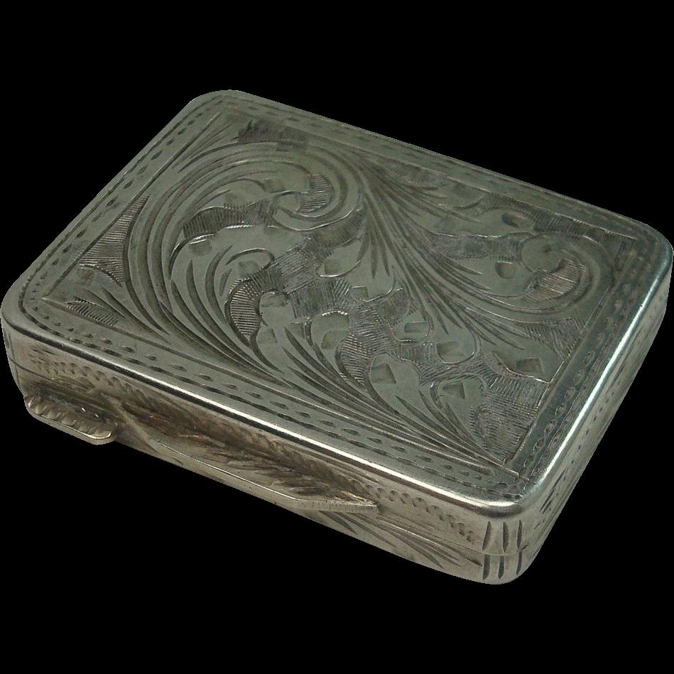 Italian 800 Acanthus Snuff Box or Pill Box