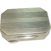 800 Silver Art Deco Snuff or Pill Box