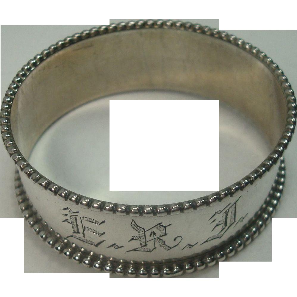 Watrous Beaded Border Sterling Napkin Ring