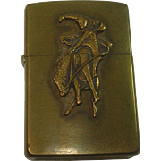 Zippo Marlboro Man Riding Horse Vintage Lighter