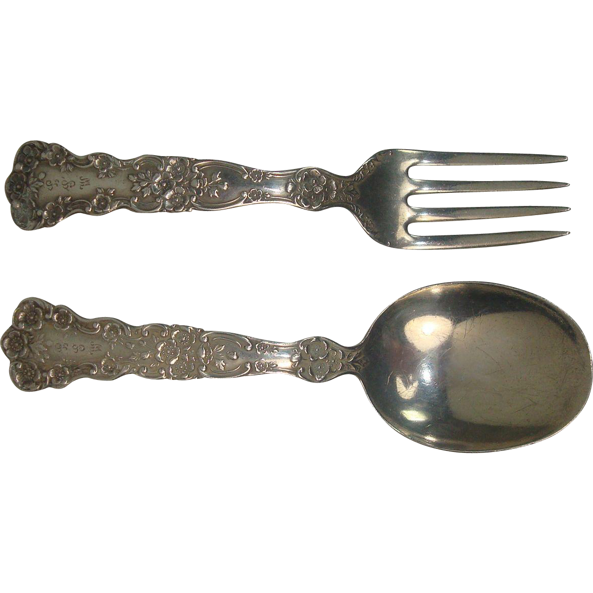 Gorham 1899 Buttercup Baby Spoon and Fork