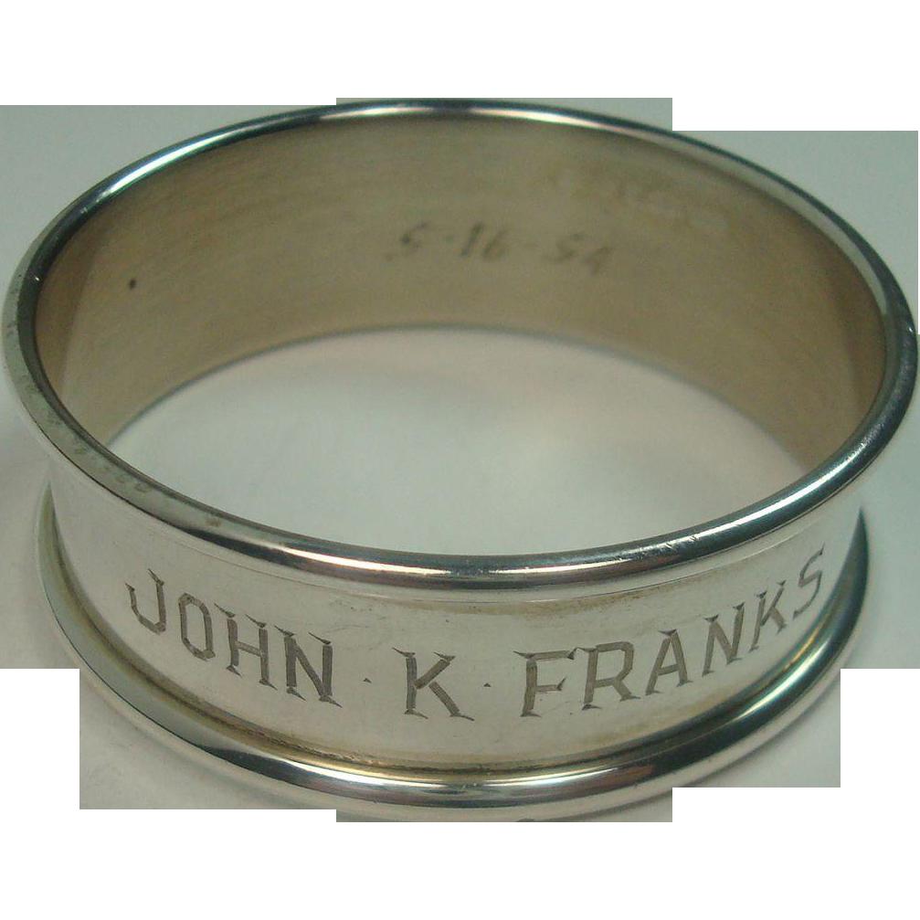 Baldwin & Miller JOHN K. FRANKS Napkin Ring