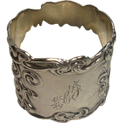 Heavy Art Nouveau Swirl Napkin Ring