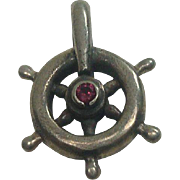 Sterling Ships Wheel Charm