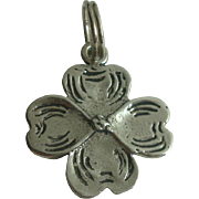 Sterling Four Leaf Clover Charm
