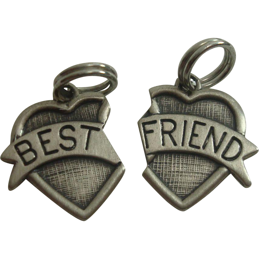 Beau Sterling Best Friend Heart Charms