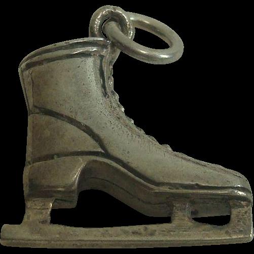 Vintage Sterling Ice Skate Charm