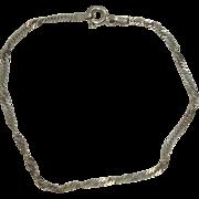 Italian Sterling 7 1/4 Curb Link Twist Bracelet