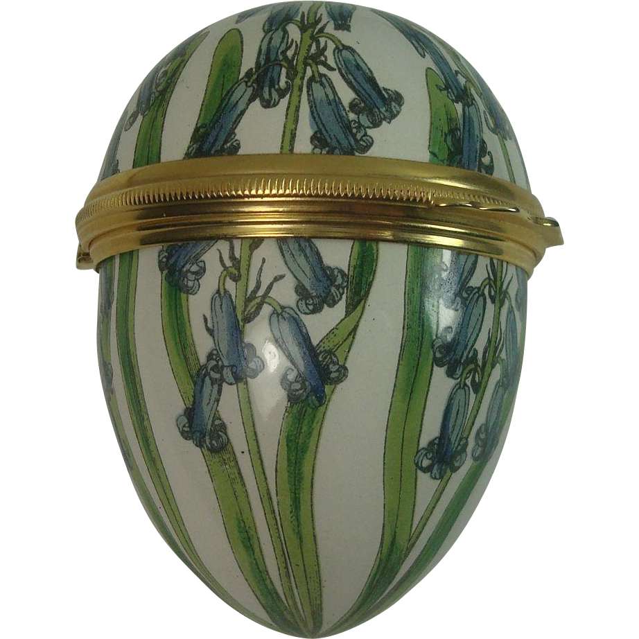 Bilston and Battersea Enameled Floral Egg