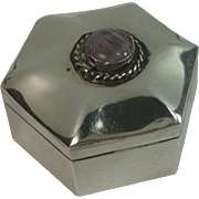 Taxco Mexico Sterling Octagonal Pill Box