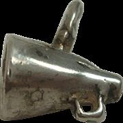 Vintage Sterling Cheerleader Megaphone Charm
