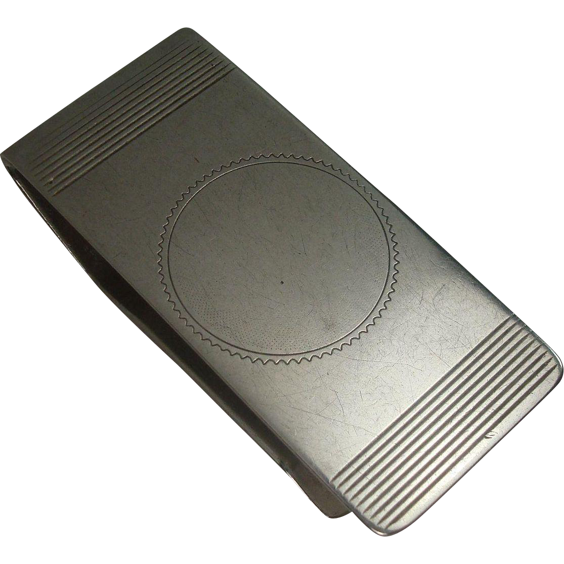 Admark Sterling Art Deco Money Clip