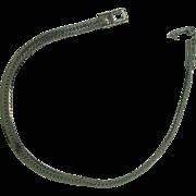"""Vintage Sterling Herringbone 7 1/2"""" Bracelet"""