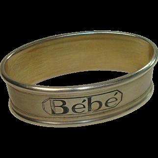 Silver Portugal Bebe Napkin Ring