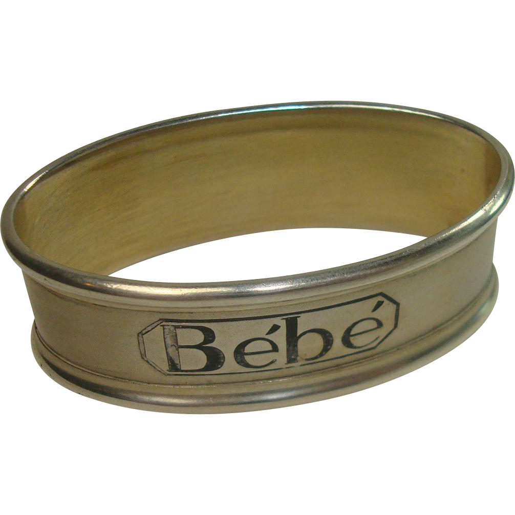 "Silver Portugal Bebe or ""Baby"" Napkin Ring"