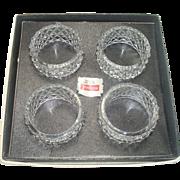 Fostoria Crystal Napkin Rings in original box- Set of 4