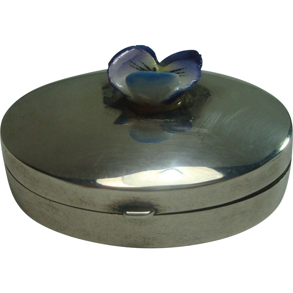 Ari Norman Sterling Oval Pill Box