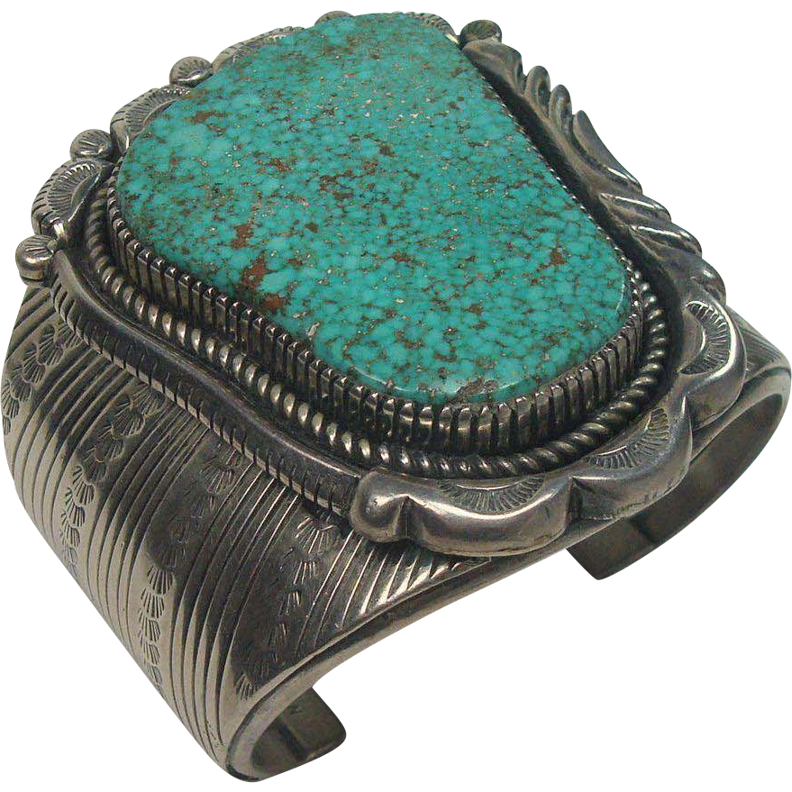 MUSEUM QUALITY Signed Howard Begay Turquoise Sterling Cuff Bracelet 189.3 Grams!!