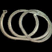 "Italian Sterling Herringbone 24"" Necklace"