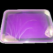 Gorgeous Cattails Amethyst Dresser or Trinket Box