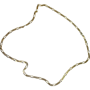"Italian Gold over Sterling 24"" Figaro Necklace"