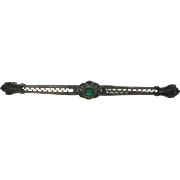 Vintage Green Stone Sterling Bar Pin or Brooch