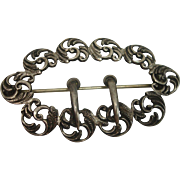 Vintage Sterling Acanthus Brooch or Pin