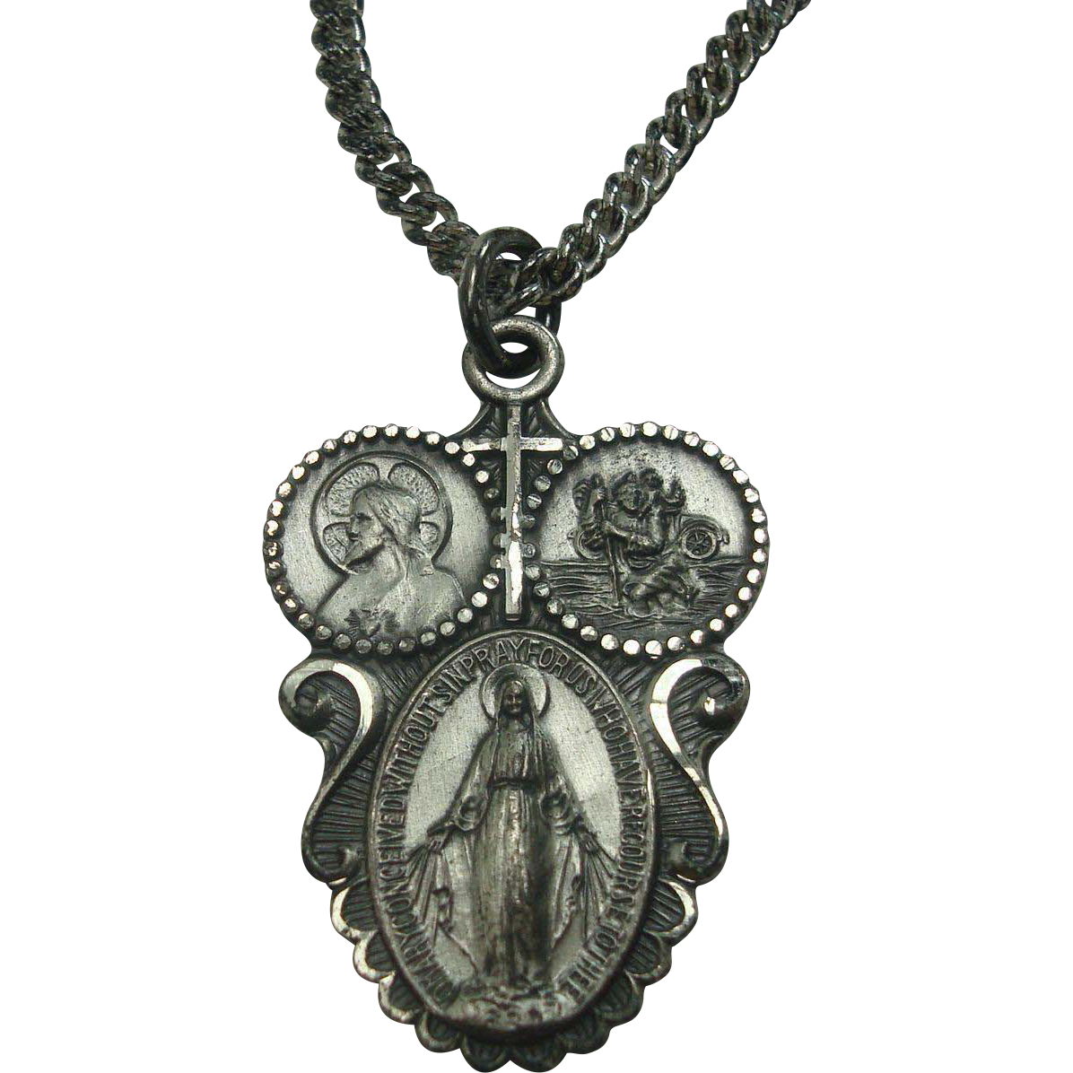 "Sterling ""I am a Catholic call a Priest"" 24"" Necklace"