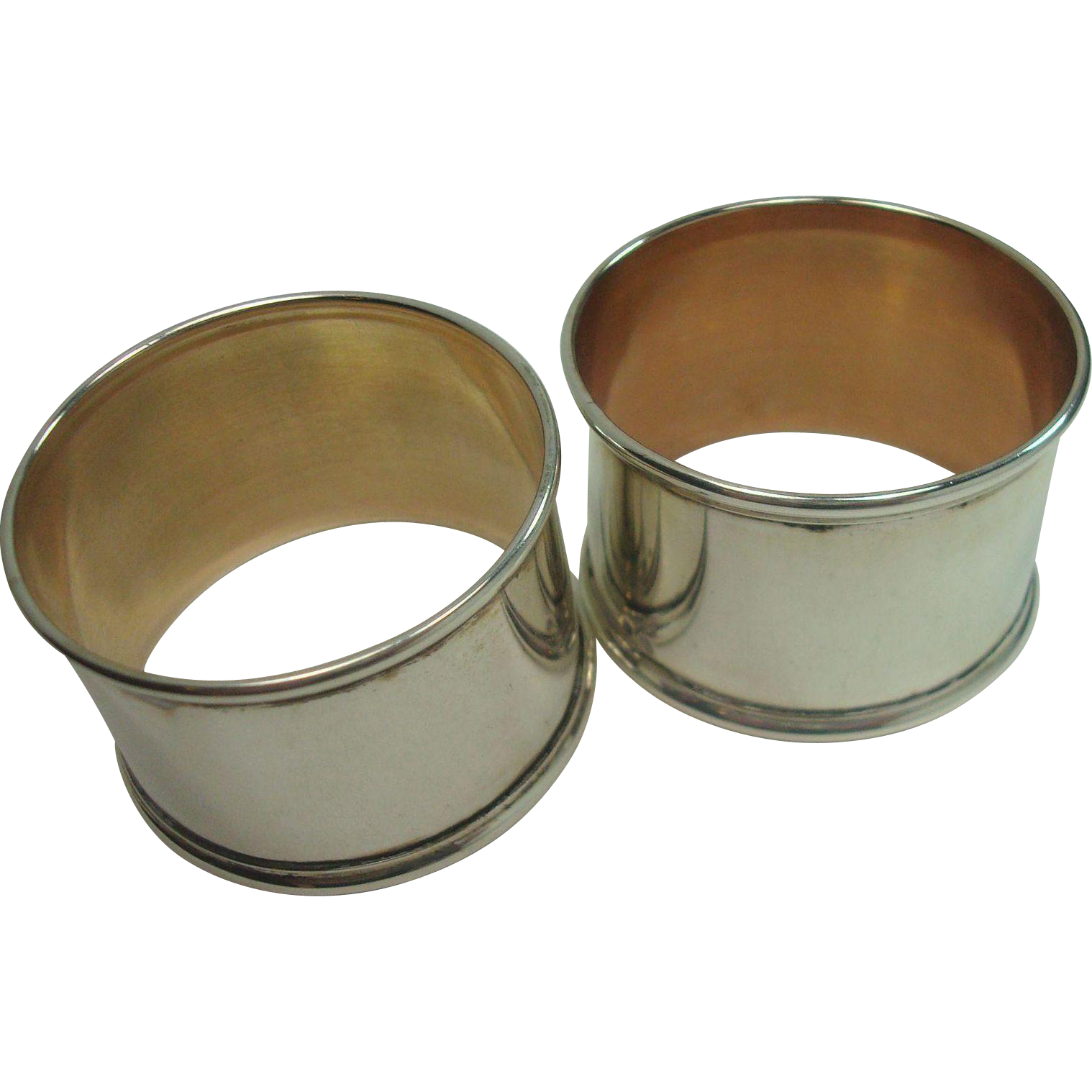 Pair Portugal .833 Silver Napkin Rings