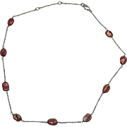 "Sterling Dyed Keshi Pearl 19"" Necklace"