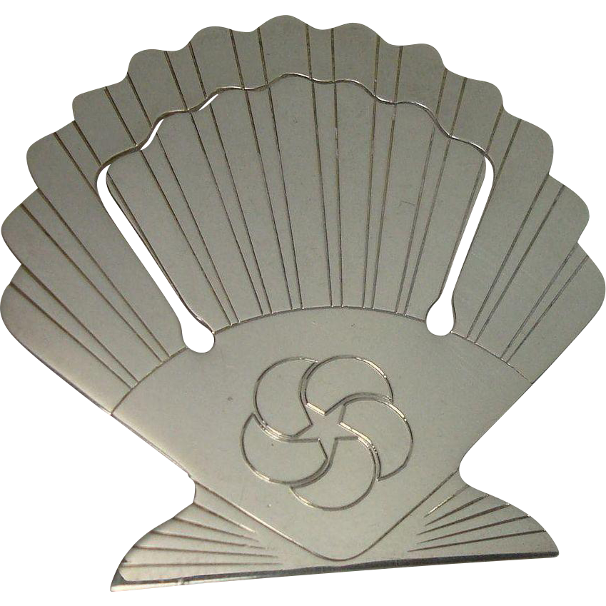 Tiffany & Co Sterling Clam Shell Bookmark
