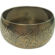 Gorgeous Watrous Floral and Leaf Sterling Napkin Ring