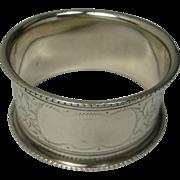 1905 Birmingham Holly Sterling Napkin Ring