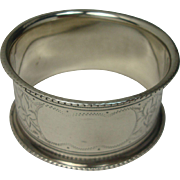 1905 Birmingham Holly Sterling Napkin Ring