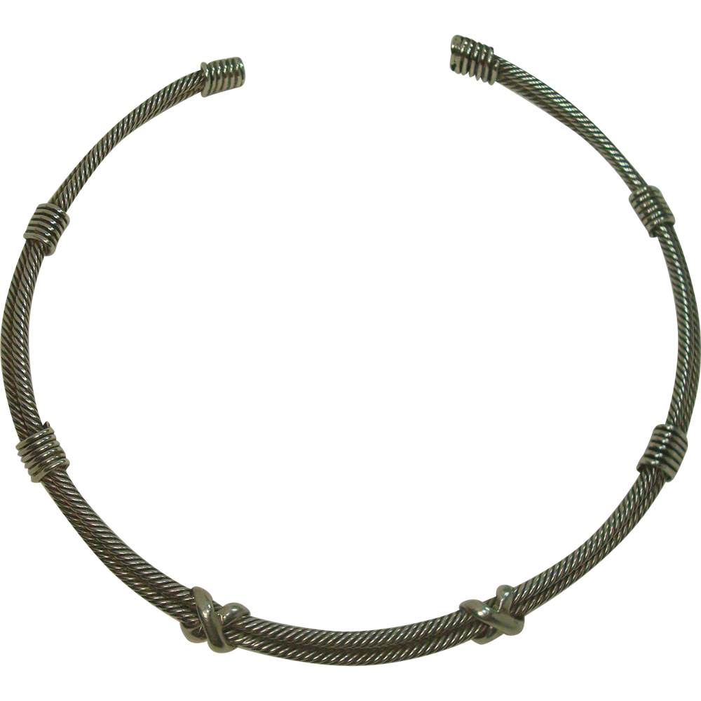 Sterling Cable Necklace David Yurman Style