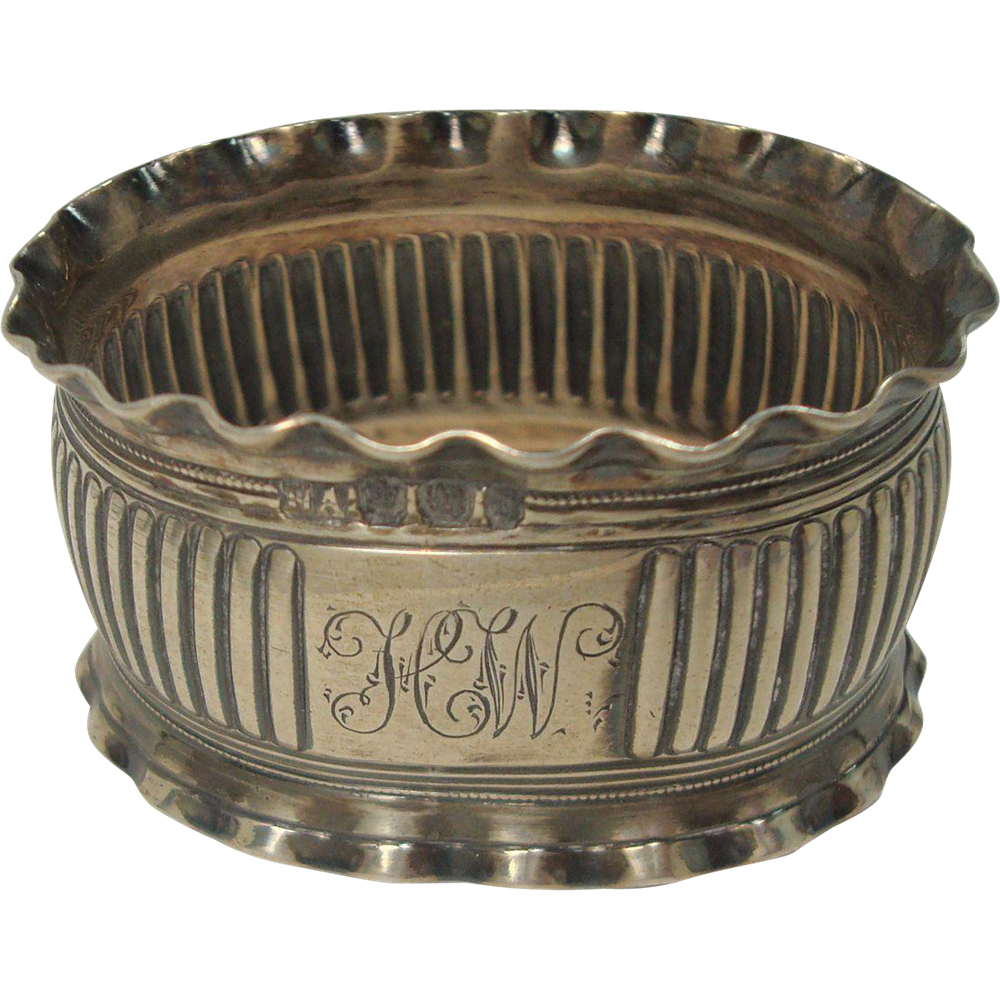 Antique 1896 Sheffield Sterling Napkin Ring
