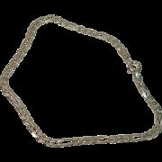 """Italian Sterling Figaro 8"""" Bracelet"""