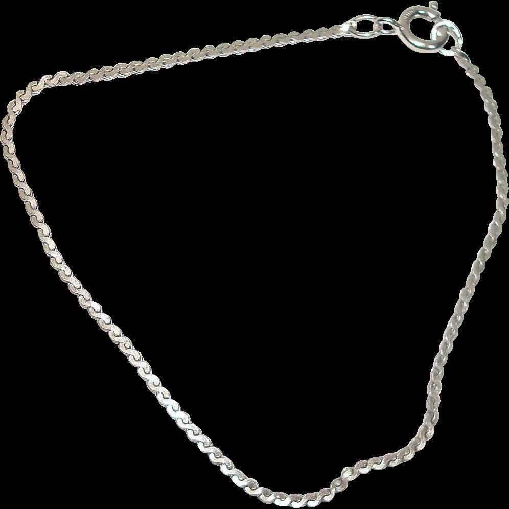 "Sterling 6 1/2"" Serpentine Bracelet"