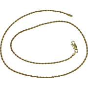 Italian Gold over Sterling Rope Chain Necklace