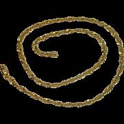 "SPARKLY!!  Gold over Sterling Twist Link Necklace 18"""