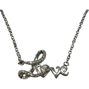 """Sterling Love Necklace 20"""""""