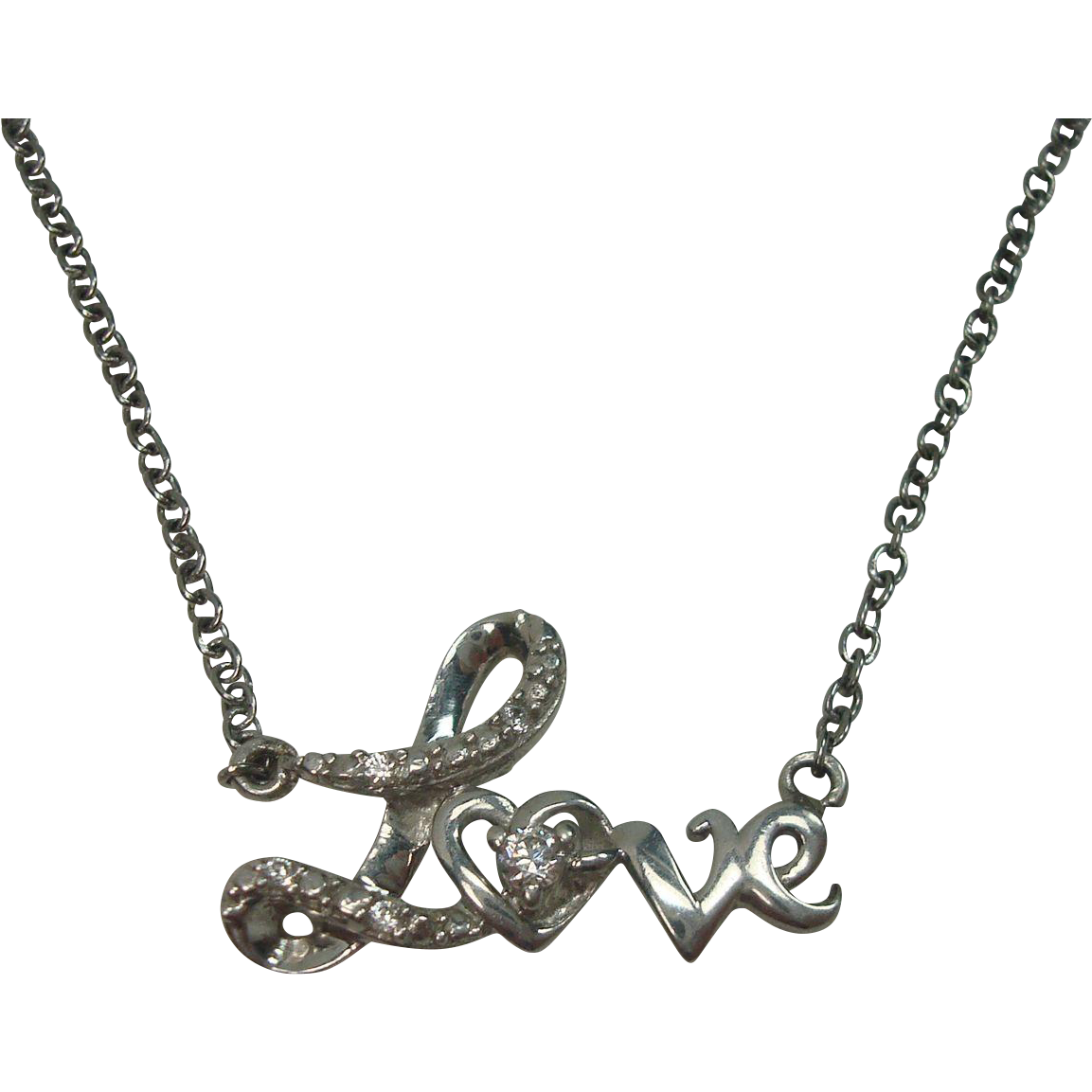 Sterling Love Necklace 20""