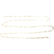 """Italian Gold Vermeil Sterling Figaro Necklace 30"""""""
