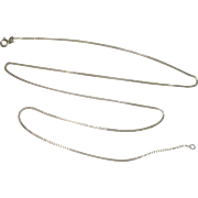"24"" Italian Sterling Box Chain Necklace 1.2mm"