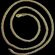 "Italian Vermeil 24"" Rope Necklace"