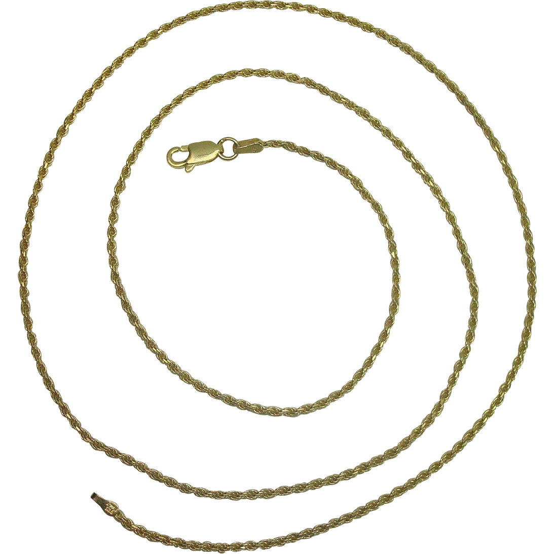 "Italian Vermeil 24"" Rope Necklace"