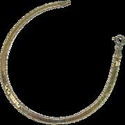 "Interesting Italian Vermeil Sterling 7"" Bracelet"