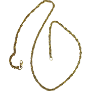 "Gold Vermeil 20"" Twist Link Chain Necklace"
